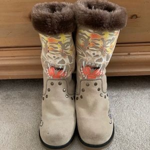 Ed Hardy Boots With Fur For Women